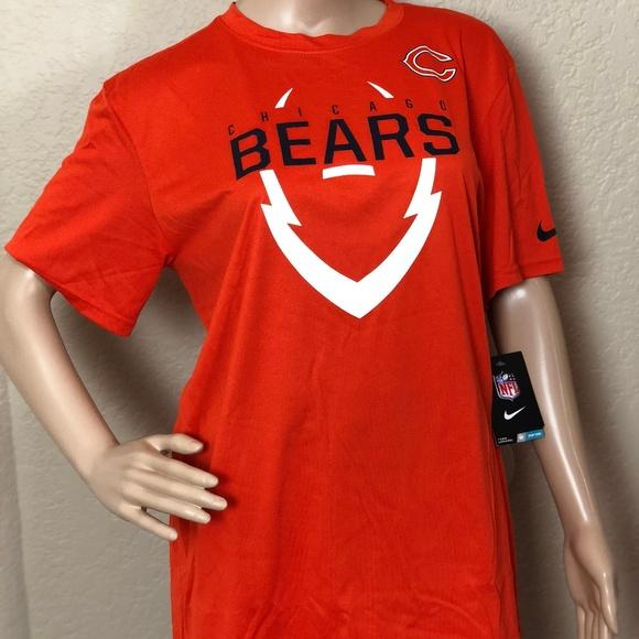 bacino antico Alta esposizione  Nike Shirts | Nfl Tram Apparel Chicago Bears Tshirt | Poshmark